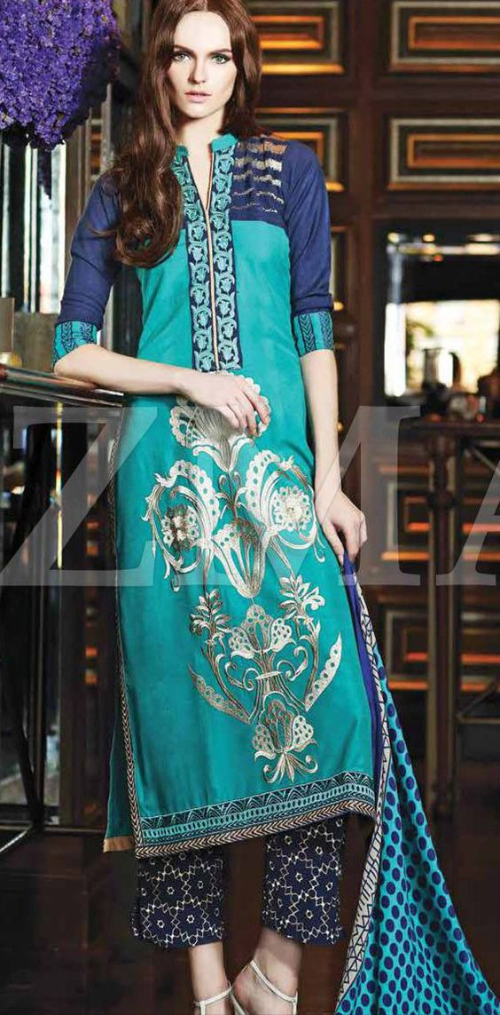 Party Wear Embroidered Dresses Designs Collection 2016-2017 (1)
