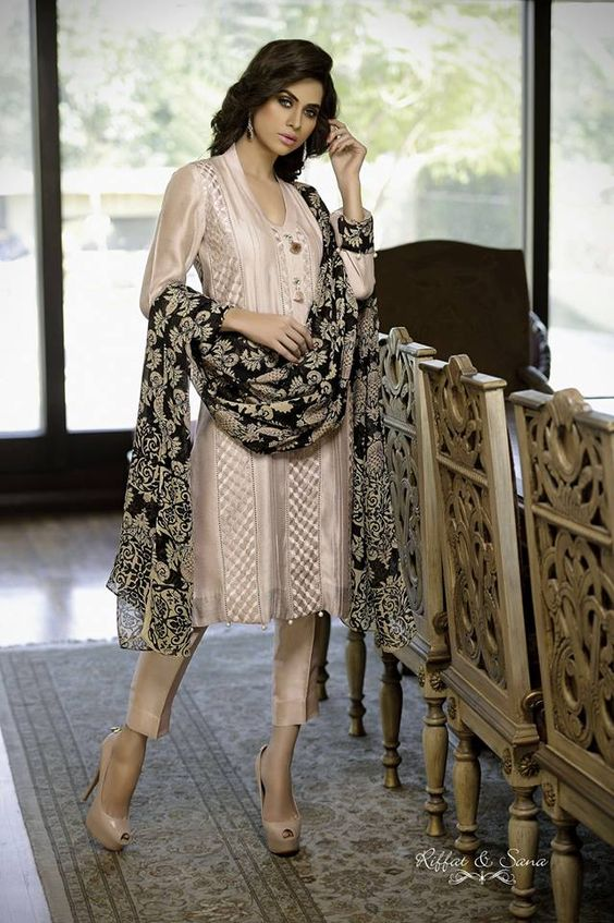 Party Wear Embroidered Dresses Designs Collection 2016-2017 (13)