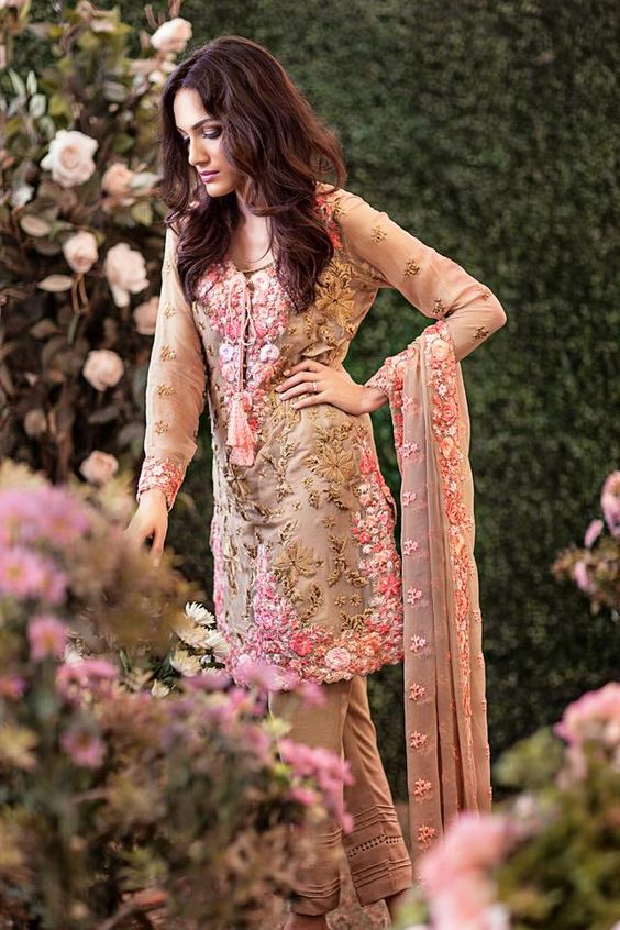 Party Wear Embroidered Dresses Designs Collection 2016-2017 (18)
