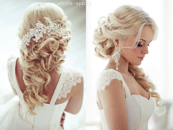 half-up-half-down-wedding-hairstyles-with-bridal-hair-accessories