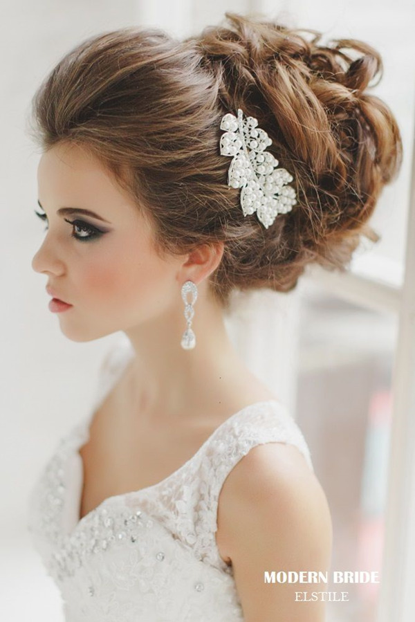 updo-wedding-hairstyles-with-leaves-shaped-bridal-headpieces