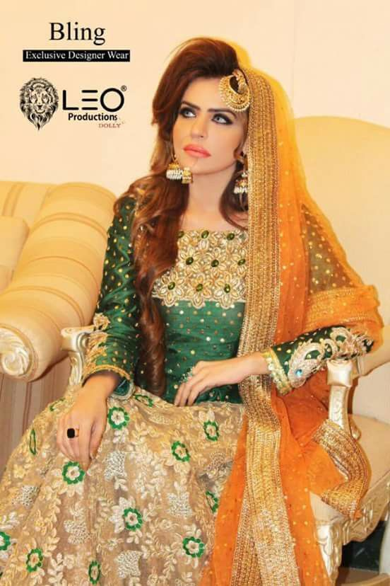 Bridal Mehndi Dresses Collection (17)