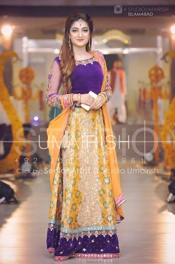 Bridal Mehndi Dresses Collection (2)