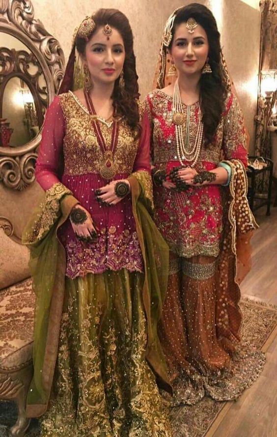 Bridal Mehndi Dresses Collection (9)