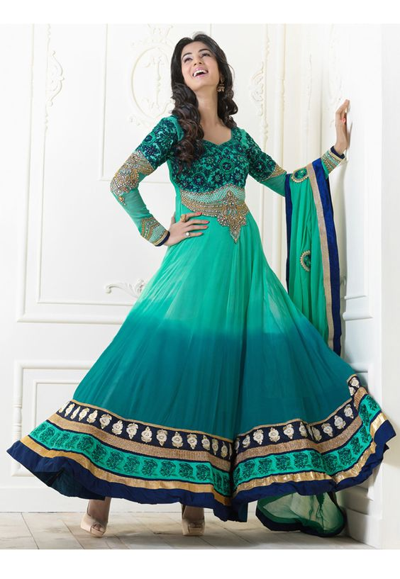 Fancy Indian & Asian Anarkali Umbrella Frocks (10)