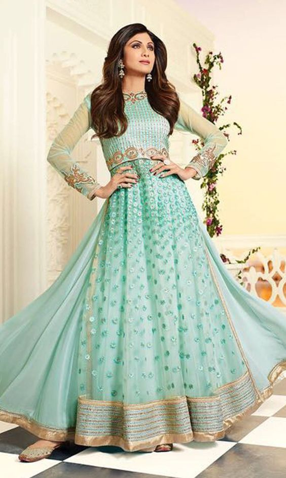 447d30addb1 Fancy Indian   Asian Anarkali Umbrella Frocks 2019 Collection ...