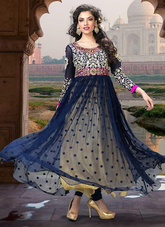 Fancy Indian & Asian Anarkali Umbrella Frocks (3)
