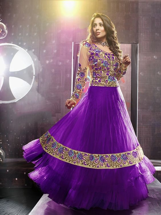 Fancy Indian & Asian Anarkali Umbrella Frocks (4)