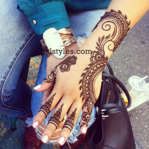 Simple & Best Eid Mehndi Designs for Girls 2016-2017 (17)