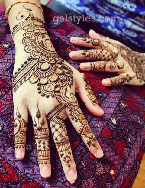 Simple & Best Eid Mehndi Designs for Girls 2016-2017 (24)