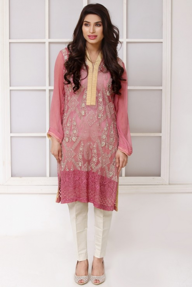 Latest Women Kurta Styles Designs 2018-19 by Change Kurta Collection (20)