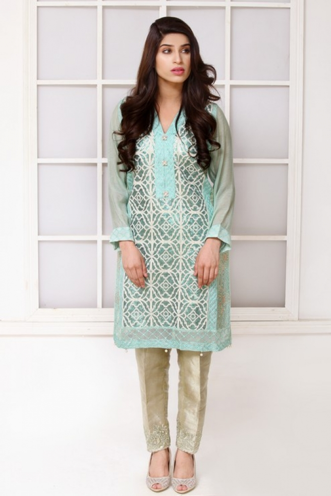 Latest Women Kurta Styles Designs 2018-19 by Change Kurta Collection (22)