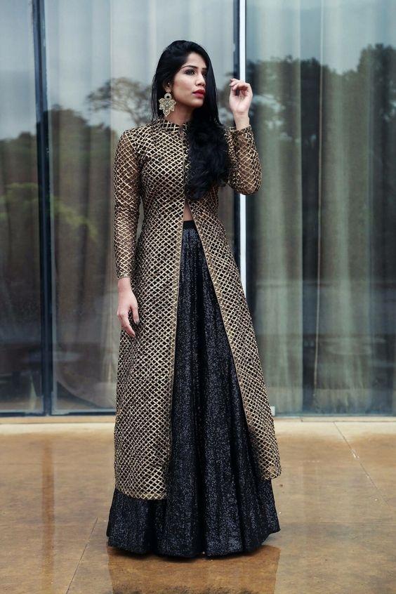 Long Front Open Double Shirt Dresses Designs (2)