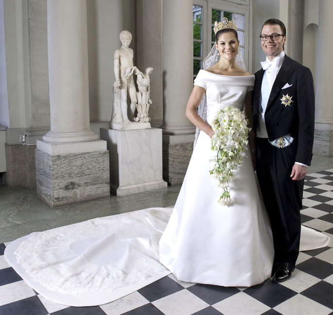 Crown Princess Victoria of Sweden bridal gown