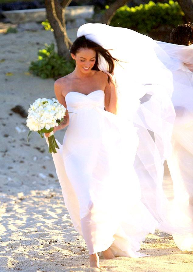 Megan Fox wedding gown