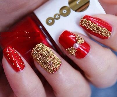 beaded-nails-2-top-5-best-diy-nail-arts-for-christmas-holiday-season