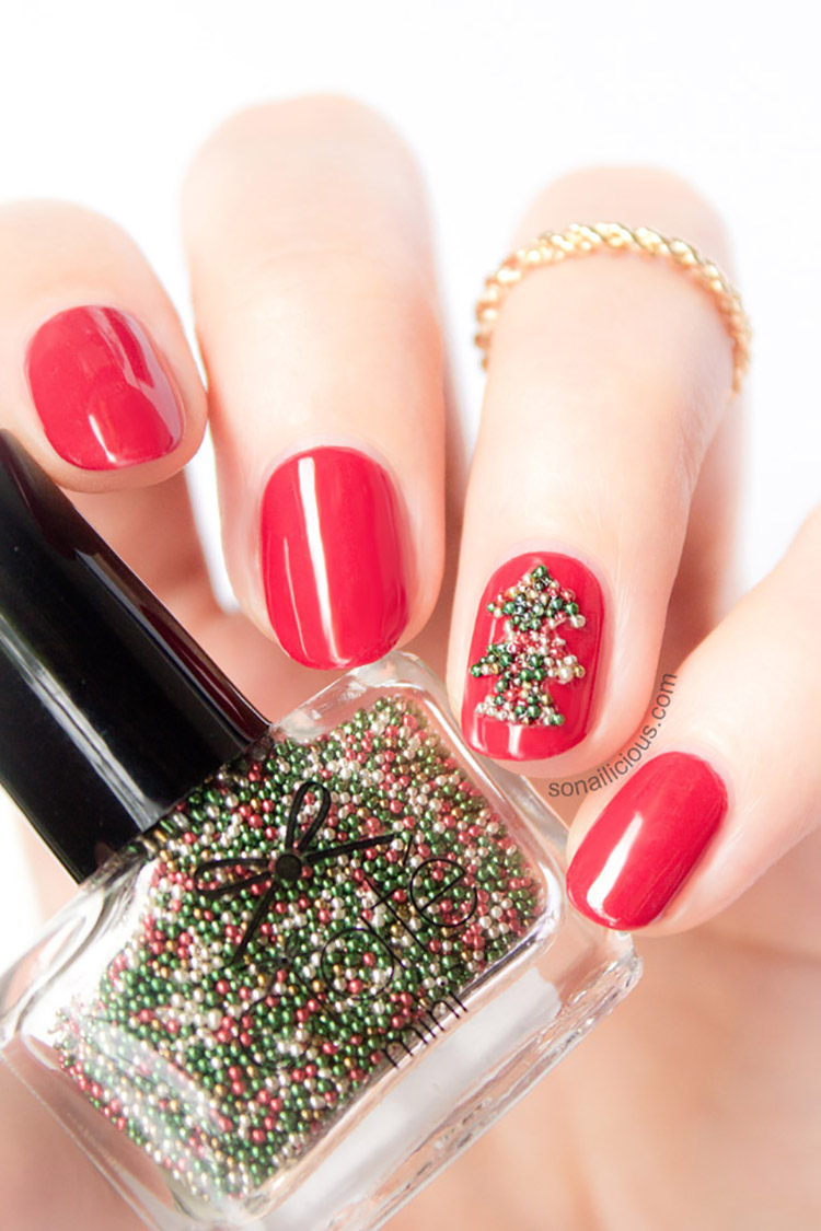 beaded-nails-3-top-5-best-diy-nail-arts-for-christmas-holiday-season