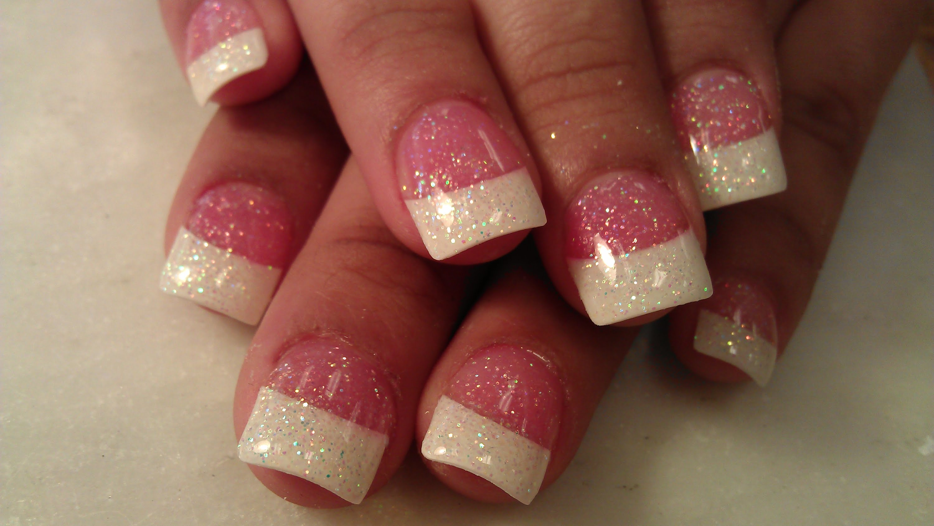 glitter-tipped-french-manicure-2-top-5-best-diy-nail-arts-for-christmas-holiday-season