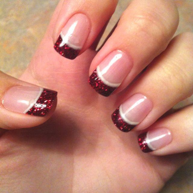 glitter-tipped-french-manicure-top-5-best-diy-nail-arts-for-christmas-holiday-season