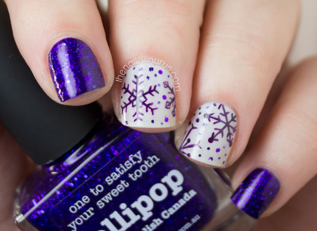 purple-snowflakes-top-5-easiest-amazing-winter-christmas-holidays-nail-art-designs-1