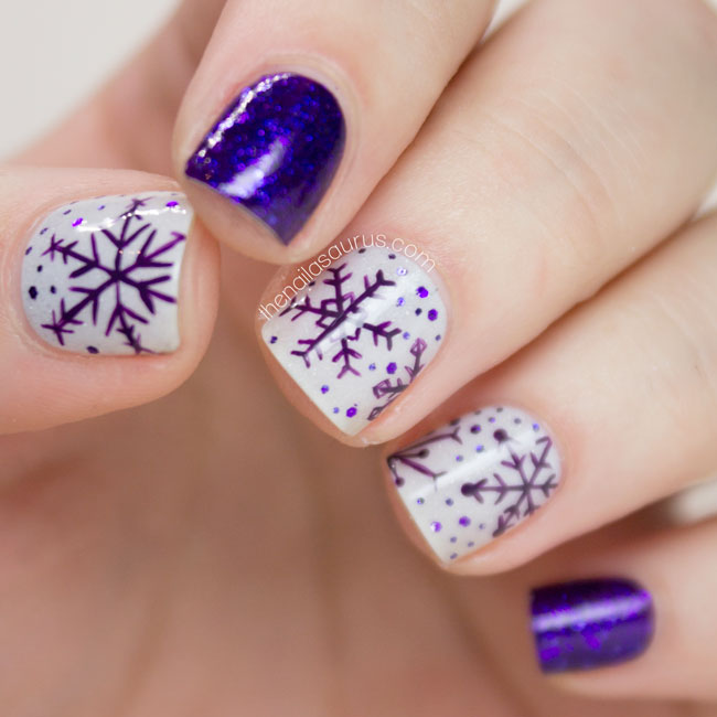 purple-snowflakes-top-5-easiest-amazing-winter-christmas-holidays-nail-art-designs-2