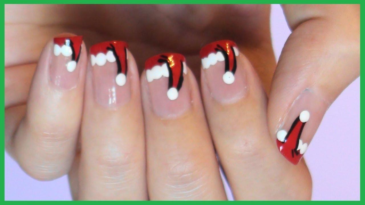 santa-hat-top-5-best-diy-nail-arts-for-christmas-holiday-season