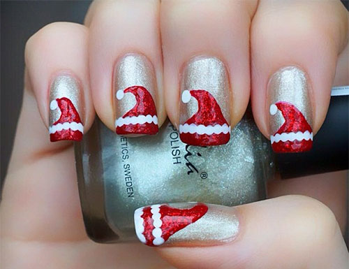santa-hat-nail-arts-top-5-best-diy-nail-arts-for-christmas-holiday-season
