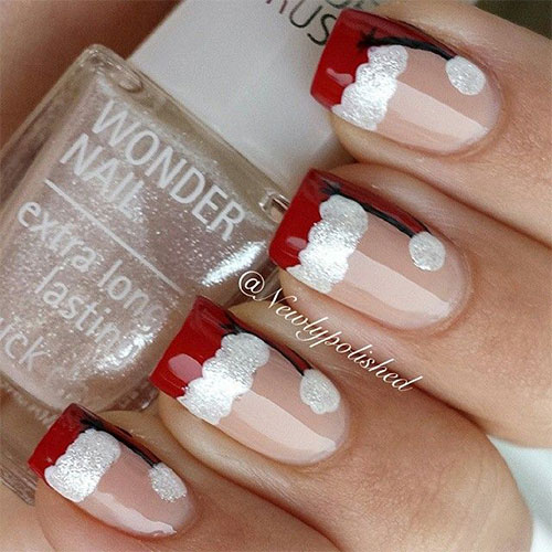 santa-hat-nails-top-5-best-diy-nail-arts-for-christmas-holiday-season