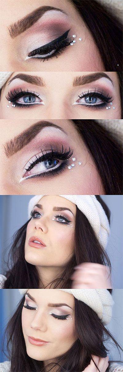 snowflake-makeup-christmas-makeup-ideas-2
