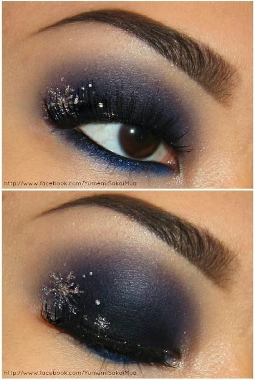snowflake-makeup-christmas-makeup-ideas-3