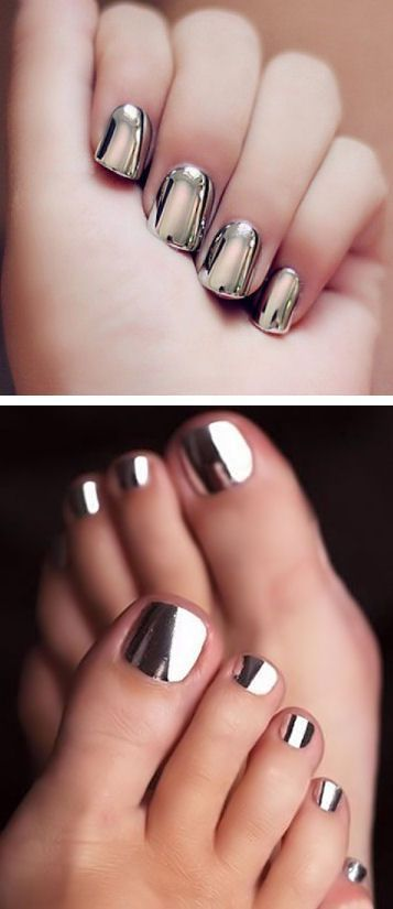 Beautiful Metallic Chrome Nail Art Designs & Tutorial (10)