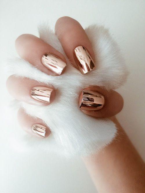 Beautiful Metallic Chrome Nail Art Designs & Tutorial (11)
