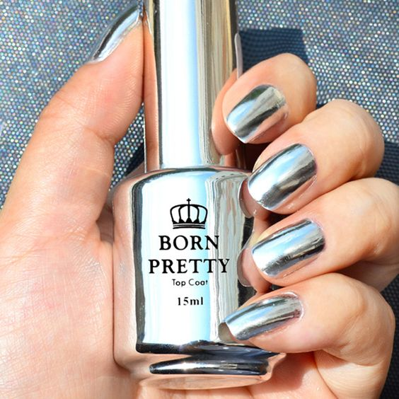 Beautiful Metallic Chrome Nail Art Designs & Tutorial (2)