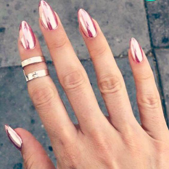Beautiful Metallic Chrome Nail Art Designs & Tutorial (7)