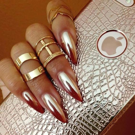 Beautiful Metallic Chrome Nail Art Designs & Tutorials (3)