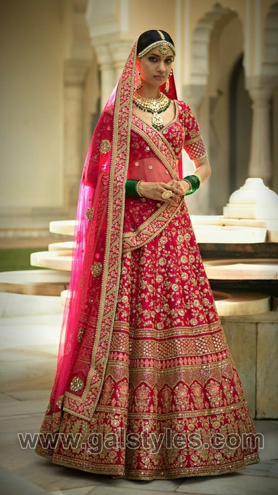 9f61426d3b2 Latest Indian Bridal Dresses Designs Trends 2019 Collection ...