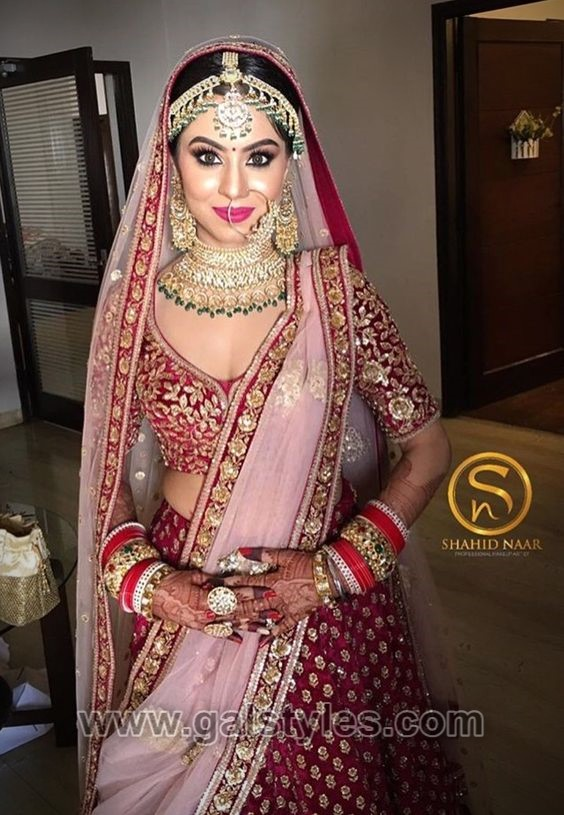 Latest Indian Bridal Dresses Designs Trends 2020 Collection Galstyles Com,Fitted Wedding Dress With Lace Overlay