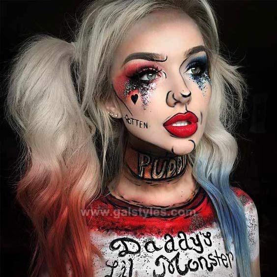 Halloween Makeup Ideas Easy.Latest Simple Easy Halloween Makeup Ideas Looks 2019 To
