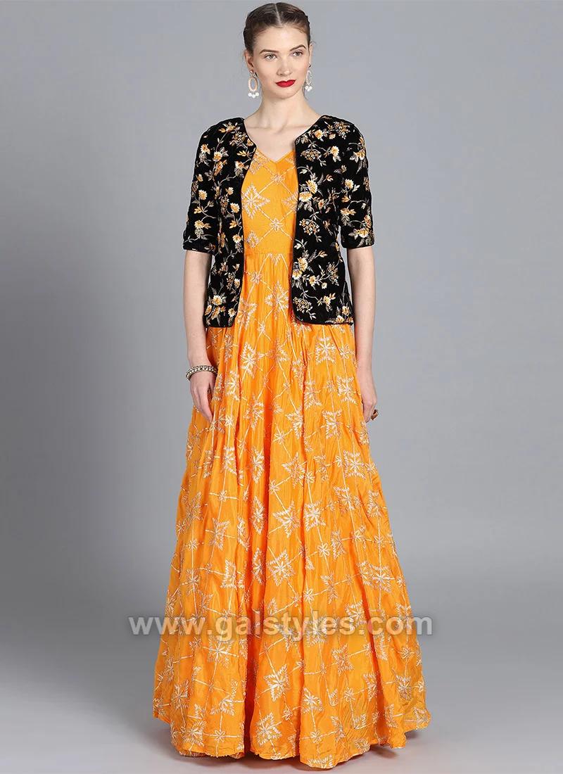 Indian Short Jacket Style Dresses