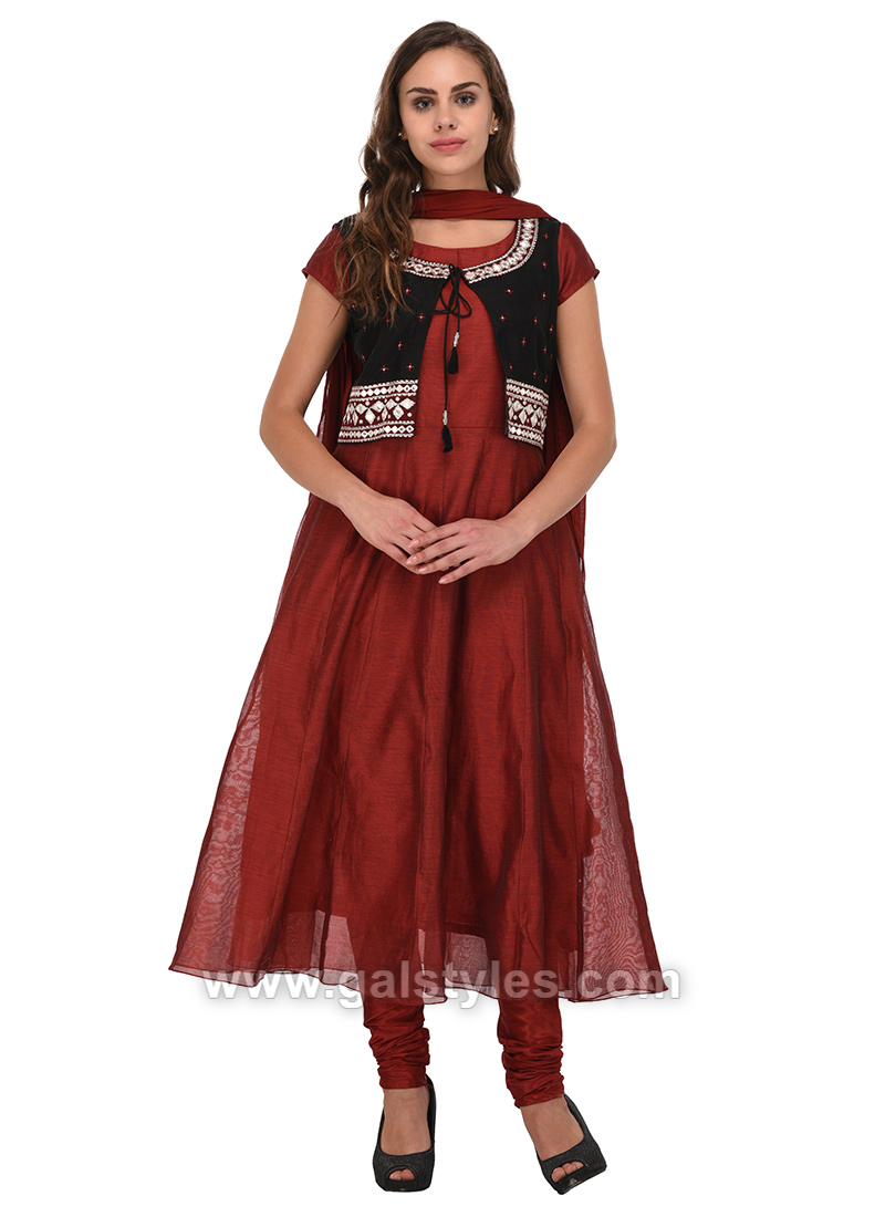 Indian Koti Jacket Style Anarkali Dresses
