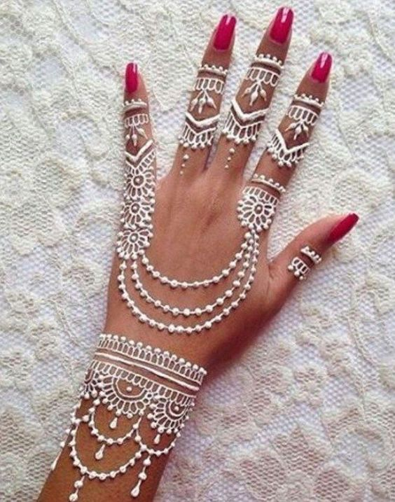 Latest White Henna Designs Tattoo Trends