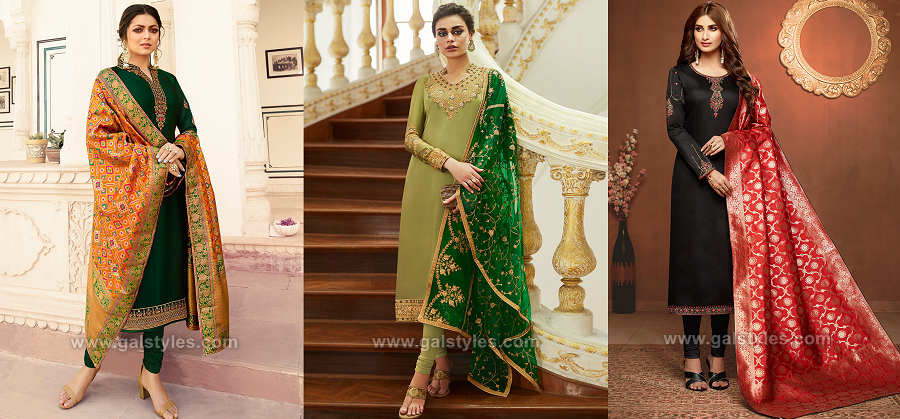 New Indian Churidar Suits Latest Designs Collection 2020 2021
