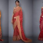 Latest Printed Embroidered Indian Sarees Designs 2020 by Ritu Kumar