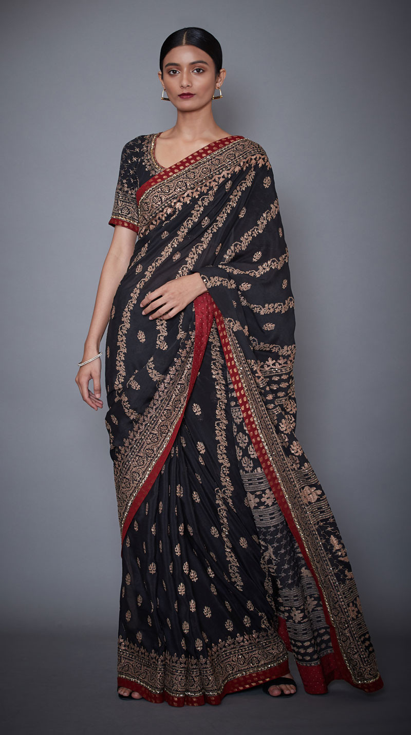 Latest Printed Embroidered Indian Sarees Designs